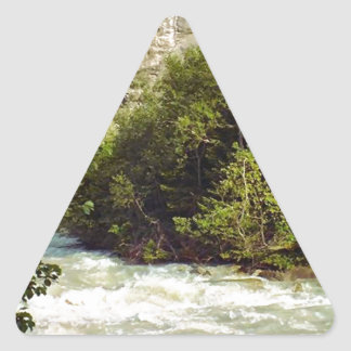 Swiss glacier and meltwater river triangle sticker