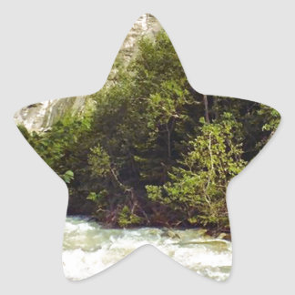Swiss glacier and meltwater river star sticker