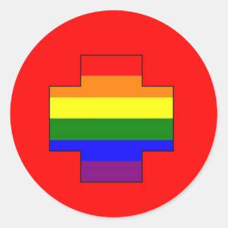 Swiss GLBT Pride Classic Round Sticker