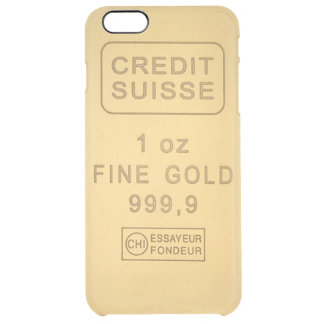 Swiss Gold Bar Clear iPhone 6 Plus Case