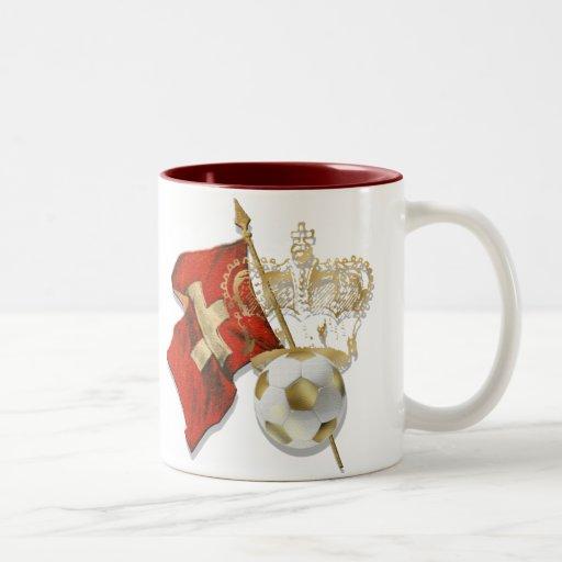 Swiss Gold - Stunning Swiss soccer graphic Two-Tone Coffee Mug