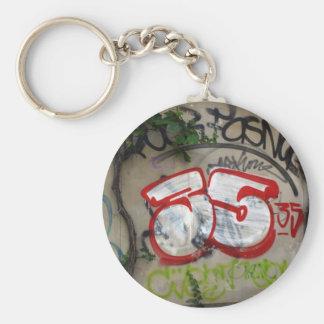 Swiss graffiti, Basel, Switzerland Basic Round Button Keychain