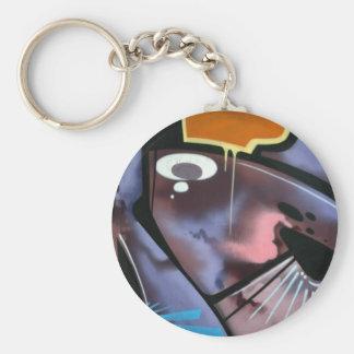 Swiss Graffiti Basic Round Button Keychain