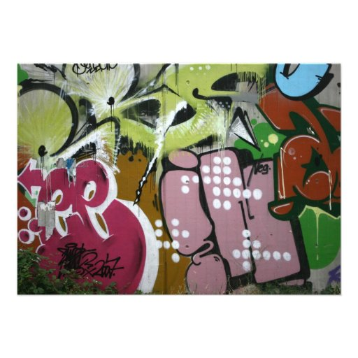 Swiss Graffiti Custom Invites
