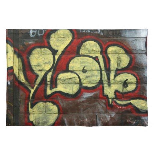 Swiss Graffiti Place Mats