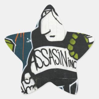 Swiss Graffiti Star Sticker