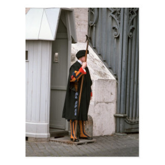 Swiss Guard in uniform designed by Michelangelo Postcard
