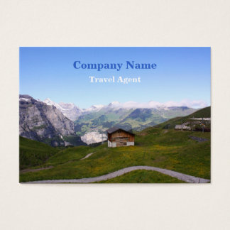 Swiss house and alps business card