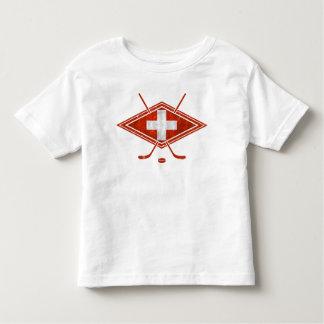 Swiss Ice Hockey Flag Toddler T-shirt