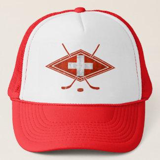 Swiss Ice Hockey Flag Trucker Hat