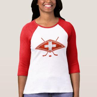 Swiss Ice Hockey Flag Women's T-Shirt