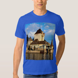 Swiss Images -  Chateau by the lake Tshirt
