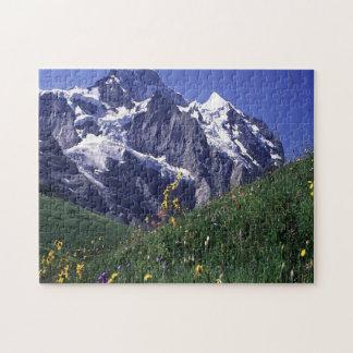 Swiss Jungfrau Mountain Jigsaw Puzzle