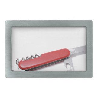 Swiss knife rectangular belt buckle