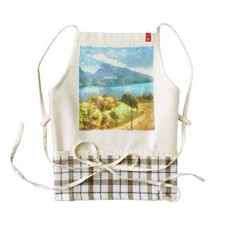 Swiss lake landscape zazzle HEART apron