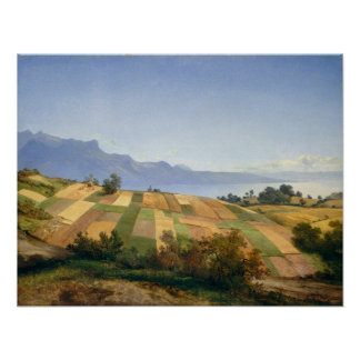 Swiss landscape by Alexandre Calame Poster