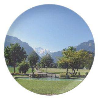 Swiss landscape party plate