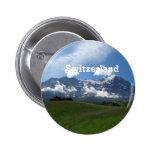 Swiss Landscape Pinback Button