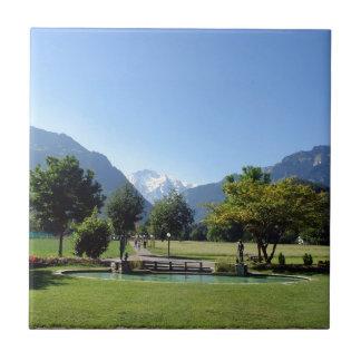 Swiss landscape ceramic tiles