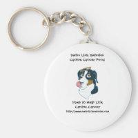 Swiss Lick Canine Cancer Keychain