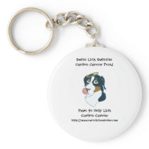 Swiss Lick Canine Cancer Keychain