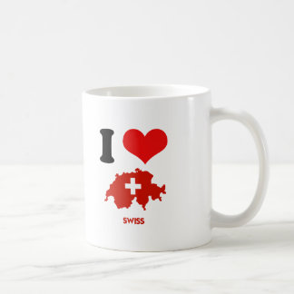 SWISS MAP COFFEE MUG