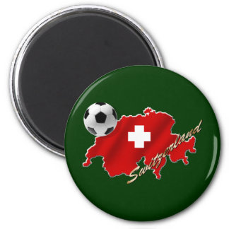 Swiss Map of Switzerland soccer football gifts Magnet
