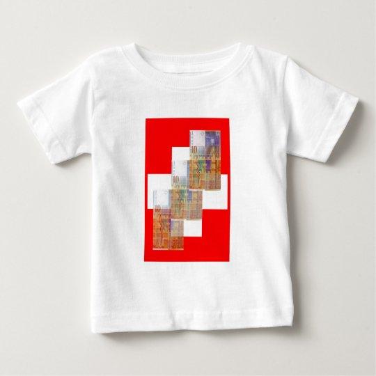 Swiss Money & Flag Baby T-Shirt