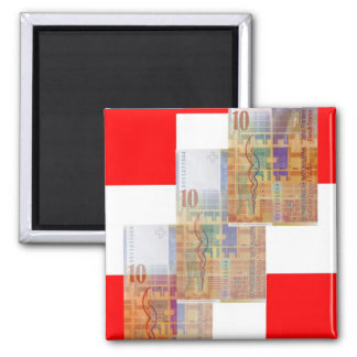 Swiss Money & Flag Magnet