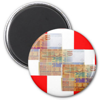Swiss Money & Flag Fridge Magnet