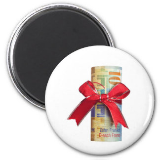 Swiss money gift magnets