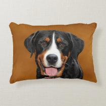 Swiss Mountain Dog Accent Pillow