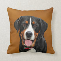 Swiss Mountain Dog Throw Pillow