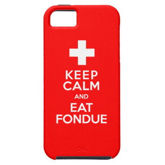 Swiss Party! Keep Calm and Eat Fondue! iPhone SE/5/5s Case