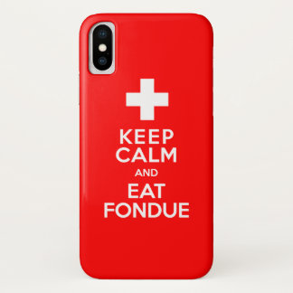 Swiss Party! Keep Calm and Eat Fondue! iPhone X Case