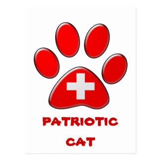 Swiss patriotic cat postcard