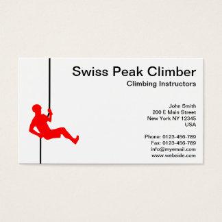 Swiss Peak Climbing Instructor on Robe Business Card