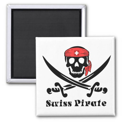 Swiss Pirate Magnet