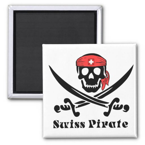 Swiss Pirate Refrigerator Magnets