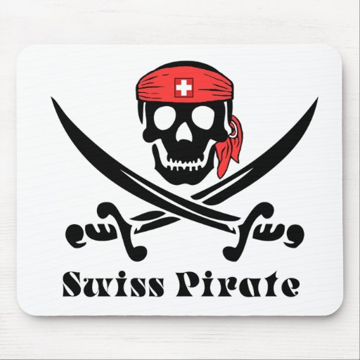 Swiss Pirate Mouse Pad