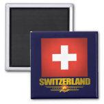 """Swiss pride"" 2 Inch Square Magnet"
