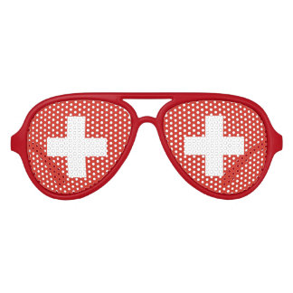 Swiss pride party shades Flag of switzerland