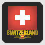 """""""Swiss pride"""" Square Sticker"""