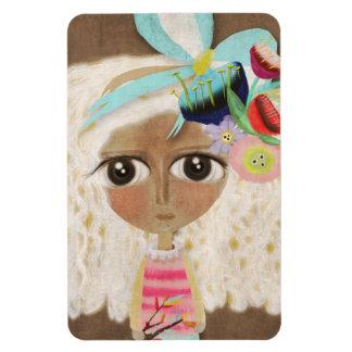 Swiss Primitive Art doll Premium Magnet