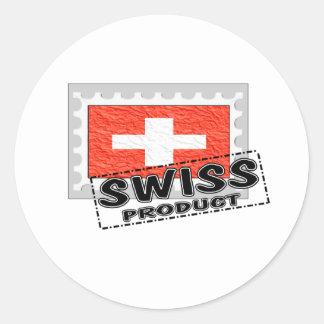 Swiss product sticker