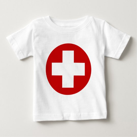 Swiss Red Cross Emergency Recovery Roundell Baby T-Shirt
