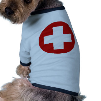 Swiss Red Cross Emergency Recovery Roundell Dog T Shirt