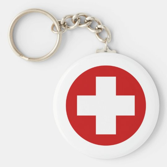 Swiss Red Cross Emergency Recovery Roundell Keychain