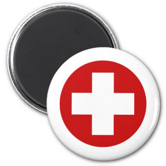 Swiss Red Cross Emergency Recovery Roundell 2 Inch Round Magnet