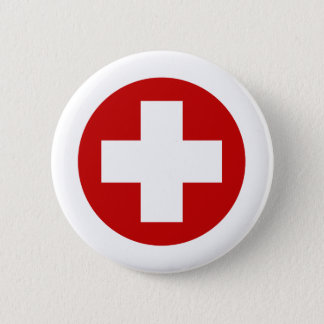 Swiss Red Cross Emergency Recovery Roundell Pinback Button